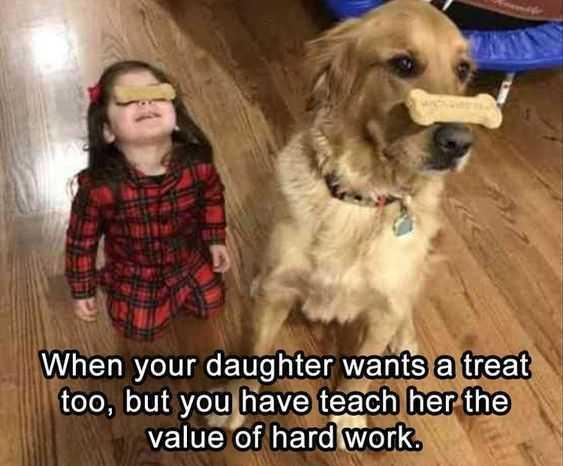 silly kid pics - value hard work
