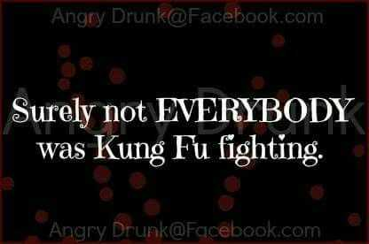 hilarious life quotes - kung fu fighting?