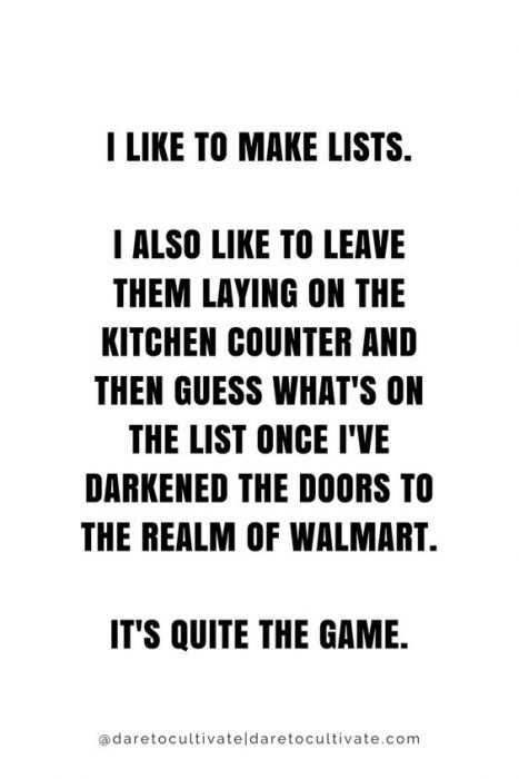 Hilarious life quotes - lists