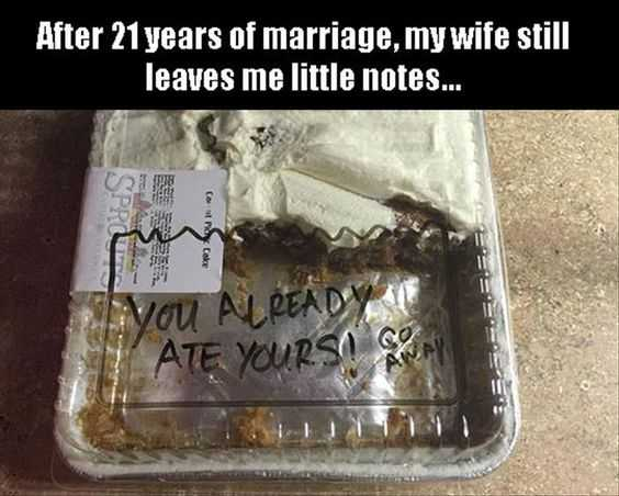 Hilarious Marriage Memes - Love notes