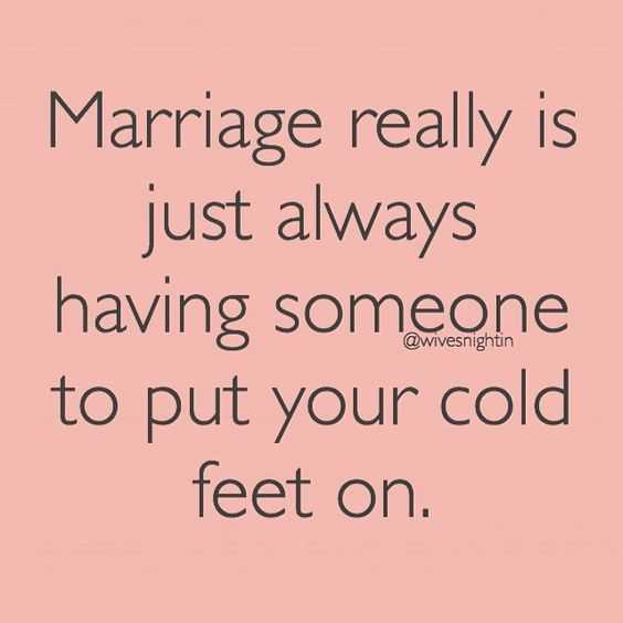 Funny Marriage Memes - cold feet