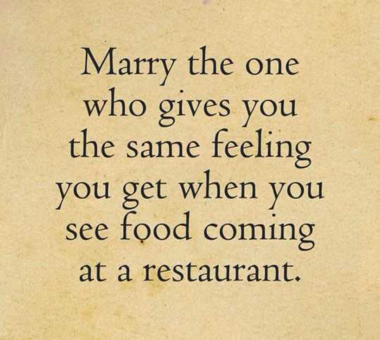 Funny Marriage Memes - food