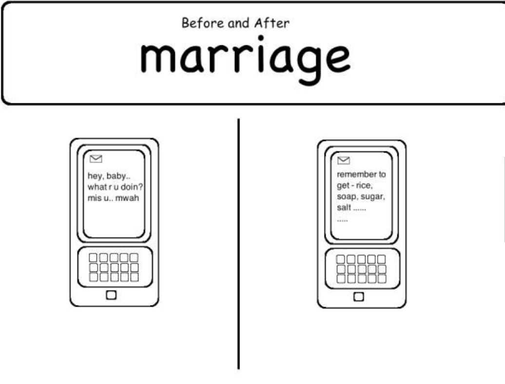 Hilarious Marriage Meme - only the essentials now