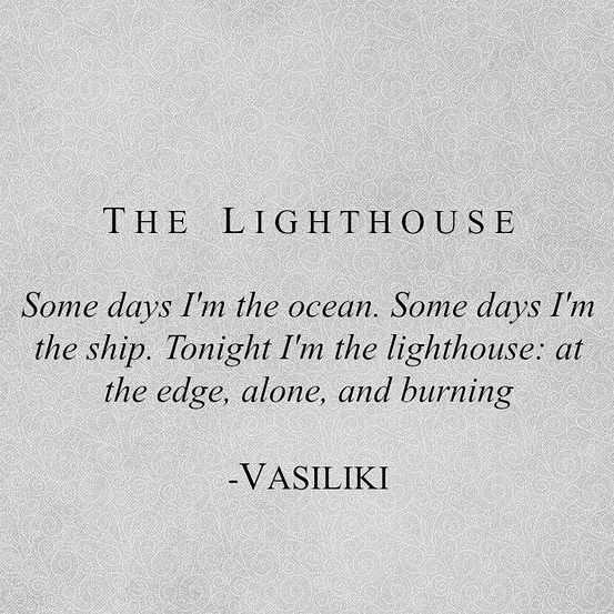 Poetic Quotes - Lighthouse
