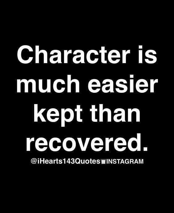 Quotes on character
