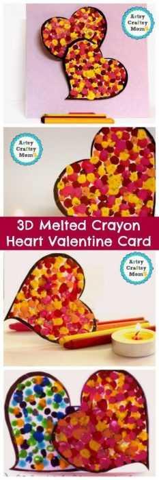 Crayon Diy Crafts - Valentines Day Heart