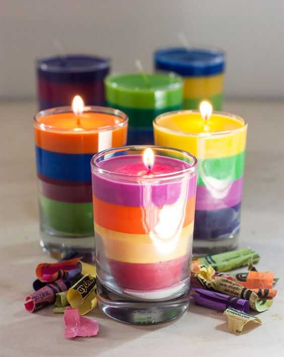 Crayon Diy Crafts - Colorful Candles