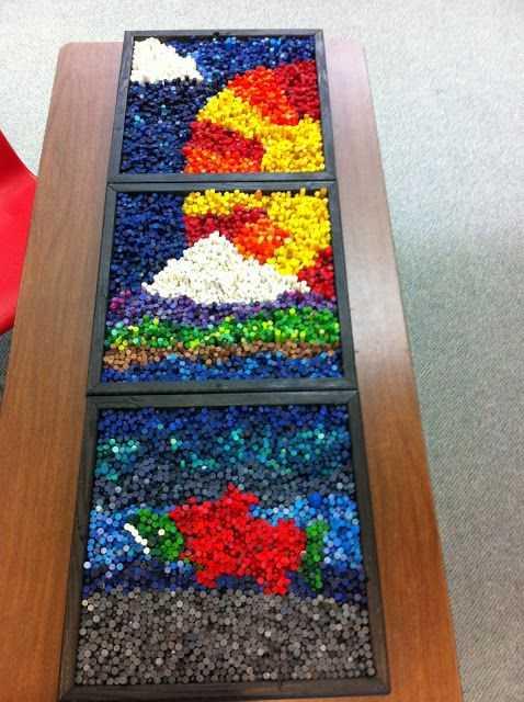 Crayon Diy Crafts - Mosaic Art