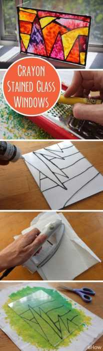 Crayon Diy Crafts - Stained Glass Window