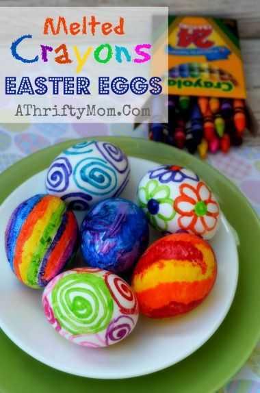 Crayon Diy Crafts - Easter Eggs