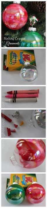 Crayon Diy Crafts - Christmas Ornaments