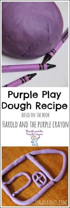 Crayon Diy Crafts - Purple Play Dough