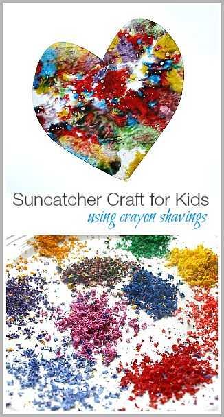 Crayon Diy Crafts - Sun Catcher