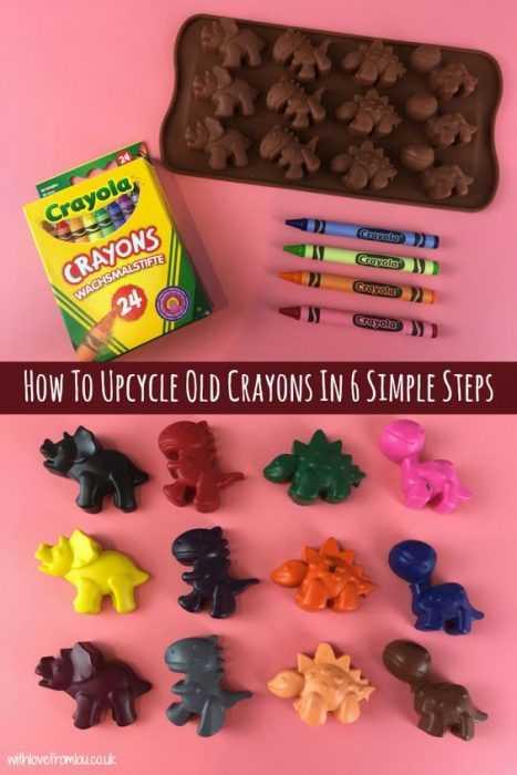 Crayon Diy Crafts - Dinosaurs