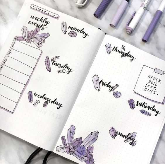Must See Bullet Journal Weekly Layout Ideas