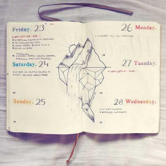 Beautiful Bullet Journal Weekly Layout Ideas