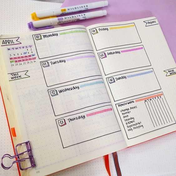 Beautiful Bullet Journal Layout Ideas