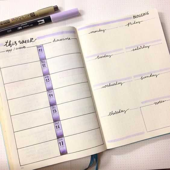 Inspirational Bullet Journal Weekly Layout Ideas