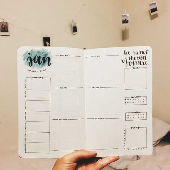 Organized Bullet Journal Weekly Layout Ideas