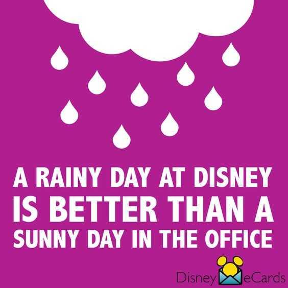 disney memes funny - raining at disney