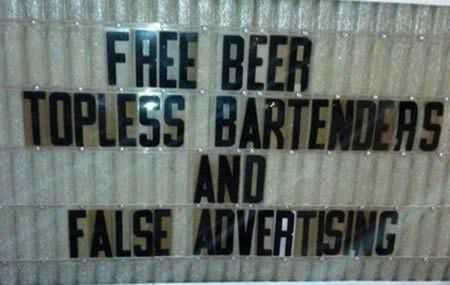 funny signs - false advertising