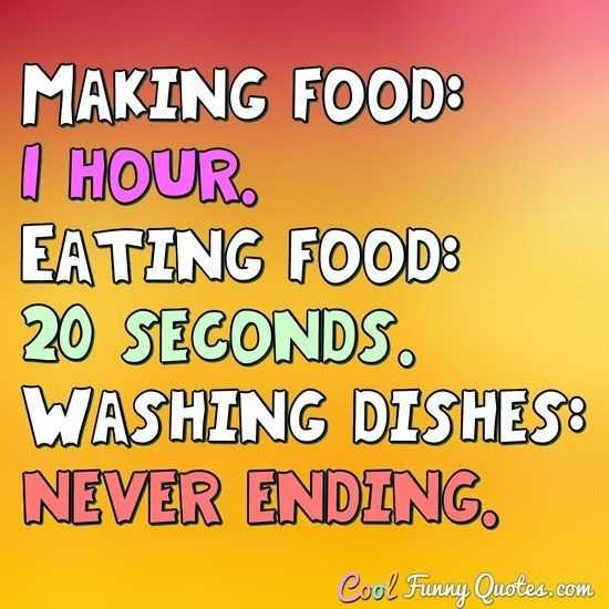 Funny Quotes about Life - time for food