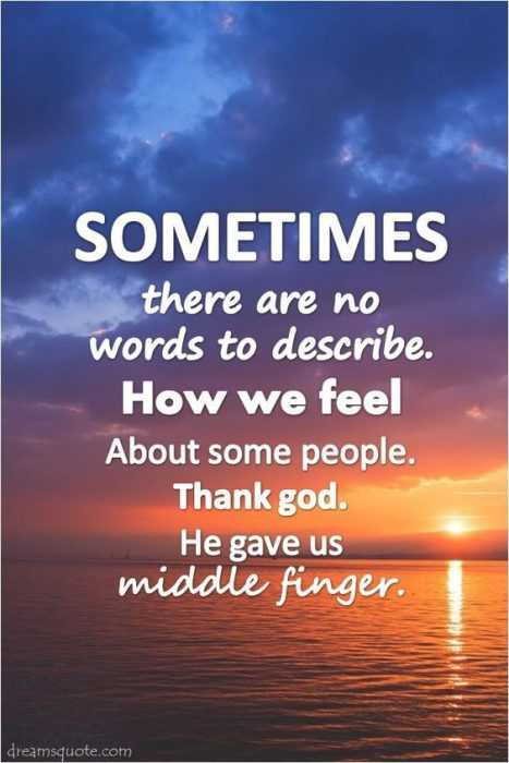 Funny Quotes about Life - middle finger