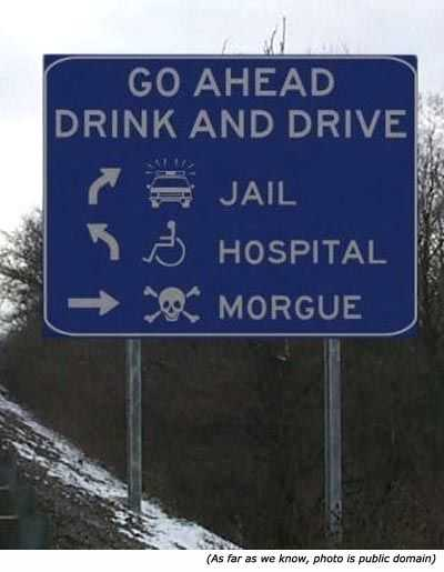 funny signs -  drink and drive
