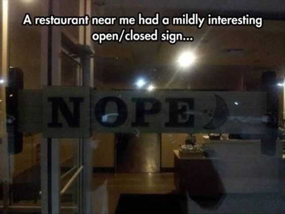 funny sign pics - NOPE