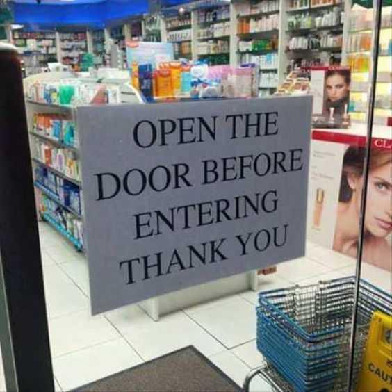 funny signs - door signs