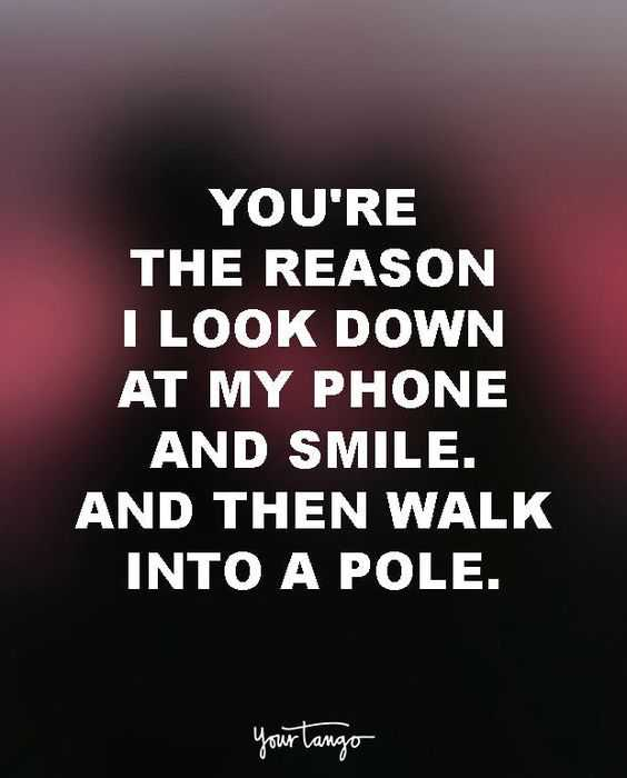 Funny quote for life - reason to look down