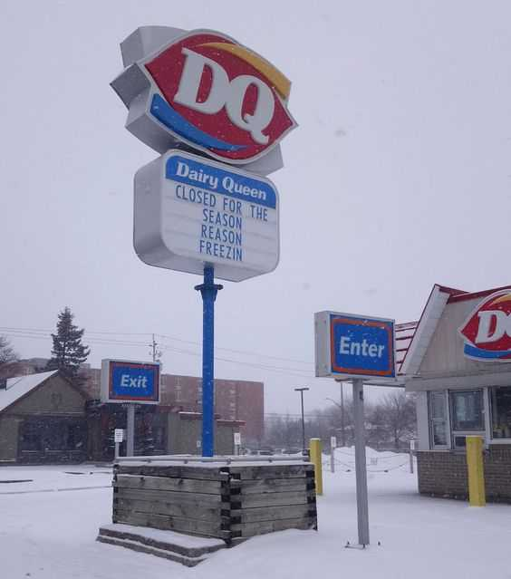 funny signs - dq closed