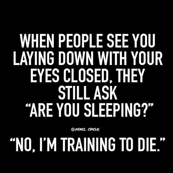 Funny quote about life - sleeping