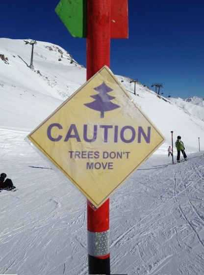 funny signs - ski piste signs
