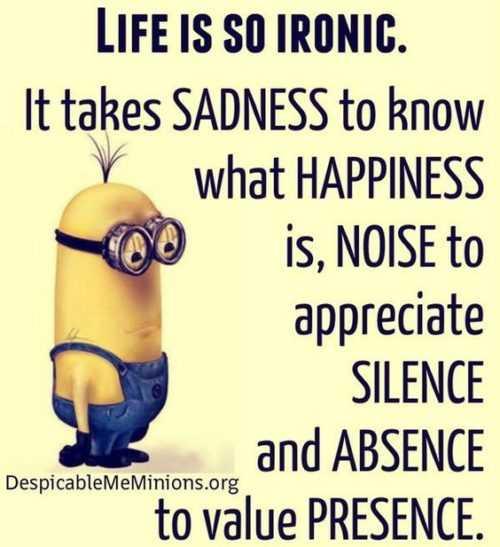 Great Minion Quotes - life's irony