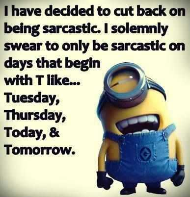 Great Minion Quotes - sarcasm