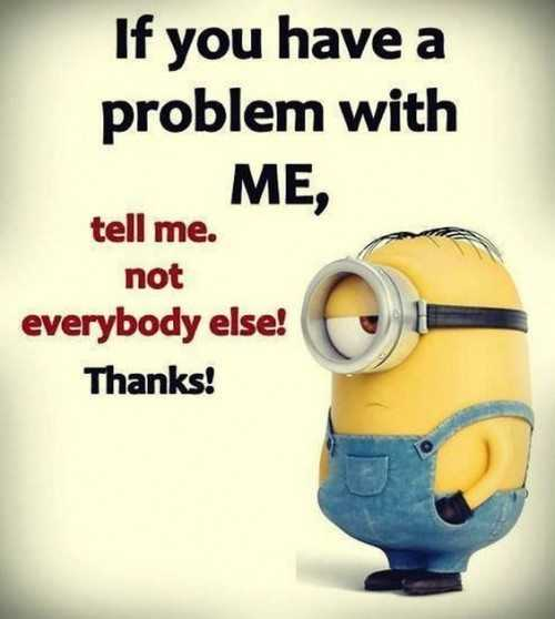 Great Minion Quotes - problems