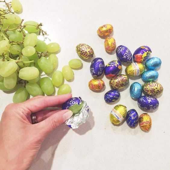 Funny April Fool's Ideas - grape instead of chocolates