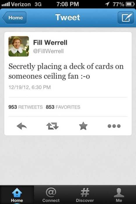 Funny April Fool's Pranks - deck of cards on ceiling fan