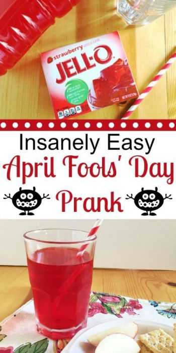 easy april fools pranks - jello drink