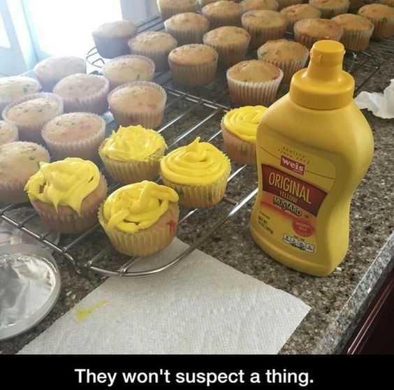 funny april fools pranks - mustard muffins