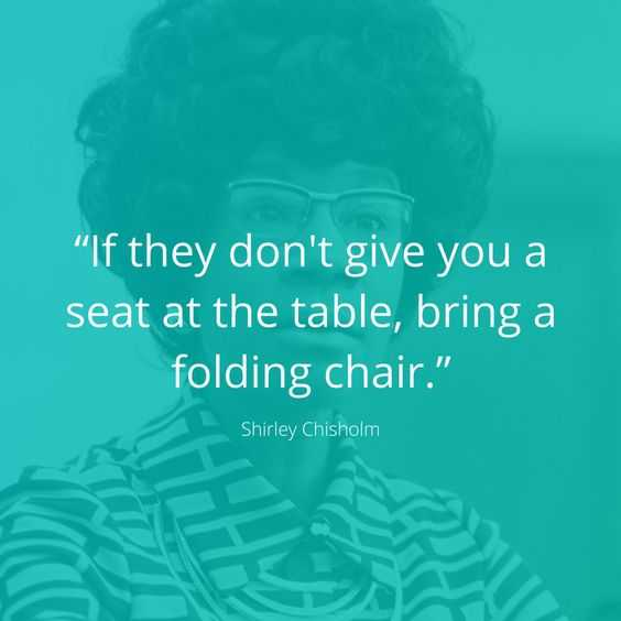amazing inspirational thought - bring your own chair