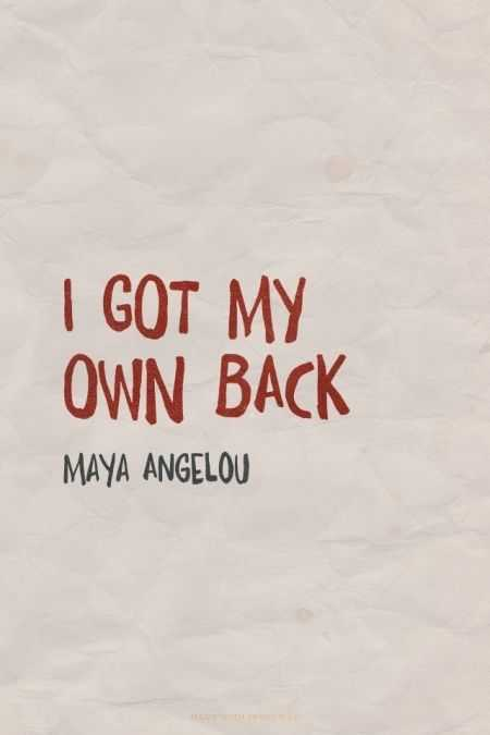 amazing inspirational thought - Your own back