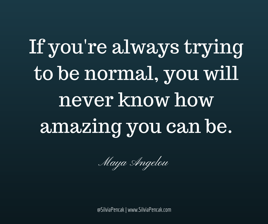 New inspirational quote about life - normal