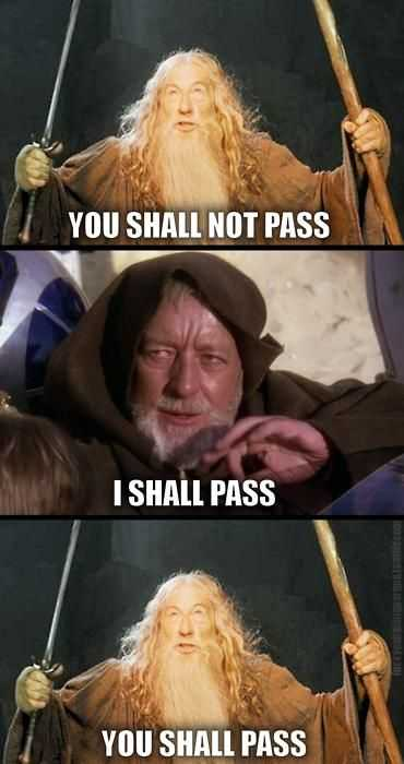 Star Wars Memes - jedi vs lord of the rings