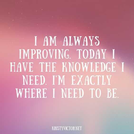 Positive Affirmations Quotes - Improvement