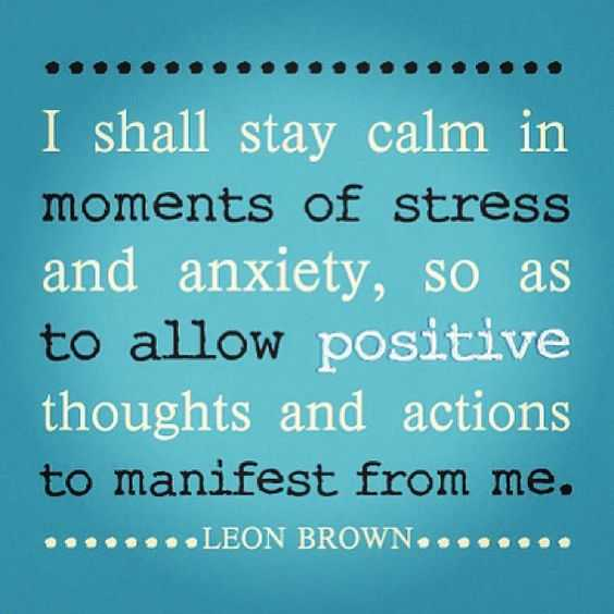 Positive Affirmations Quotes - Stay Calm