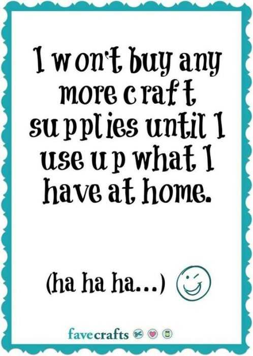 Crafting Memes - supplies