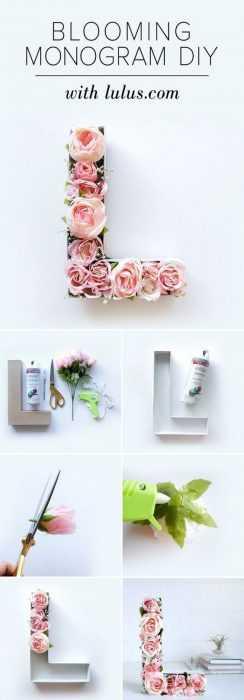 Blooming Diy Monogram