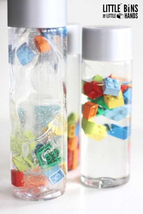Sensory Bottles Lego